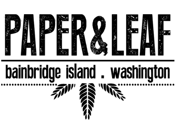 paper and leaf bainbridge island logo